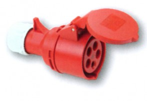 5P Hun CEE Stik - 16A i Rød