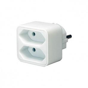 Adapter med 2 Euro-Stik ud