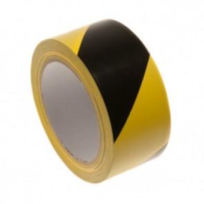 PVC advarselstape gul/sort