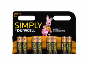 Duracell Simply AA batterier (8-pak)