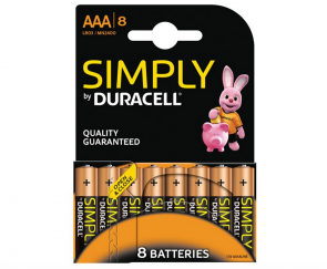 Duracell Simply AAA batterier
