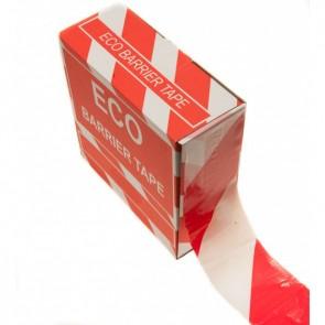 Afspærringsbånd - 75mm x 500m - Rød/Hvid
