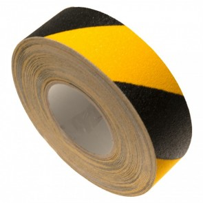 Skridsikker tape i gul sort tigerstribet - Danmarks bedste meterpris