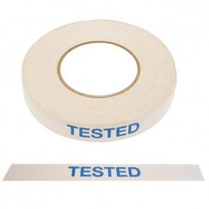 "Tape med teksten ""TESTED"""